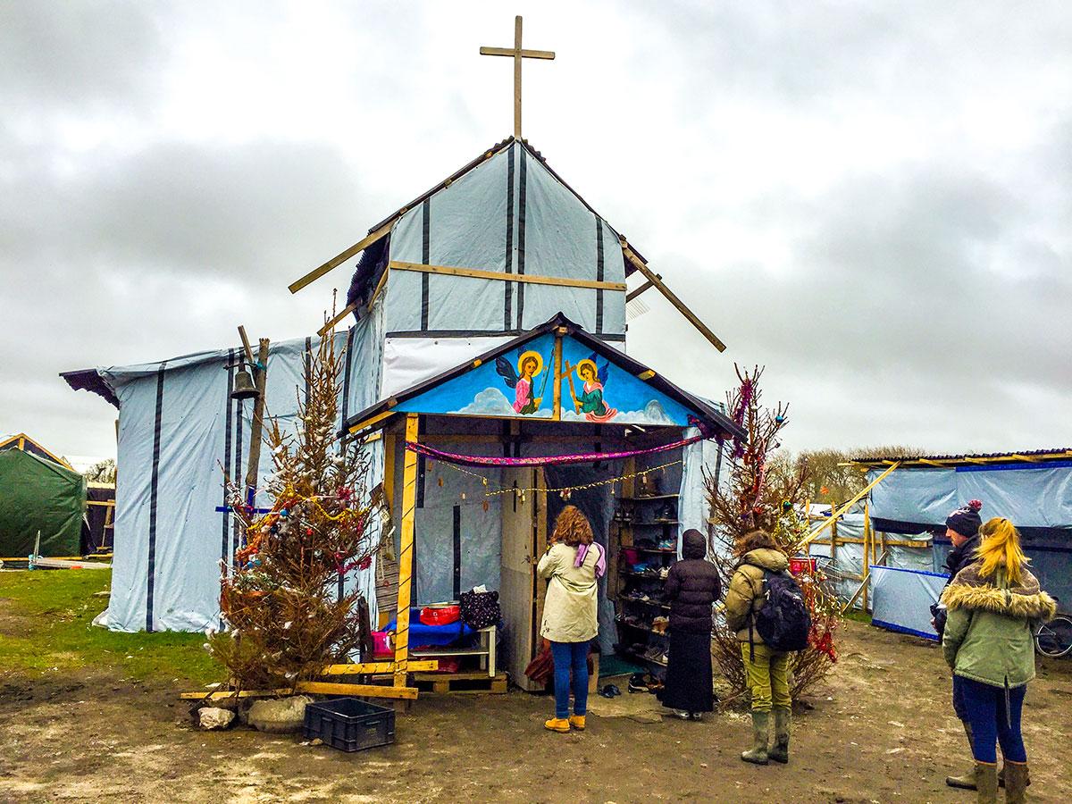 St Michaels Church Calais Jungle