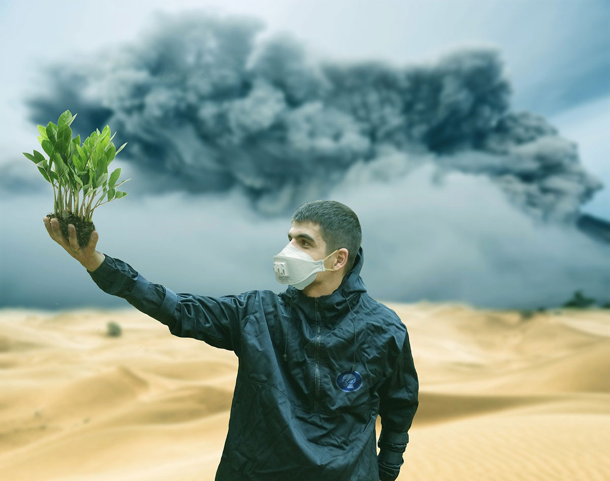 The fight to breathe is dominating our planet, expressing the sin, sickness and death of a world far from it