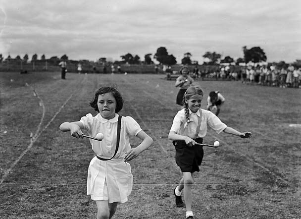 Egg and Spoon Race School Sports Day