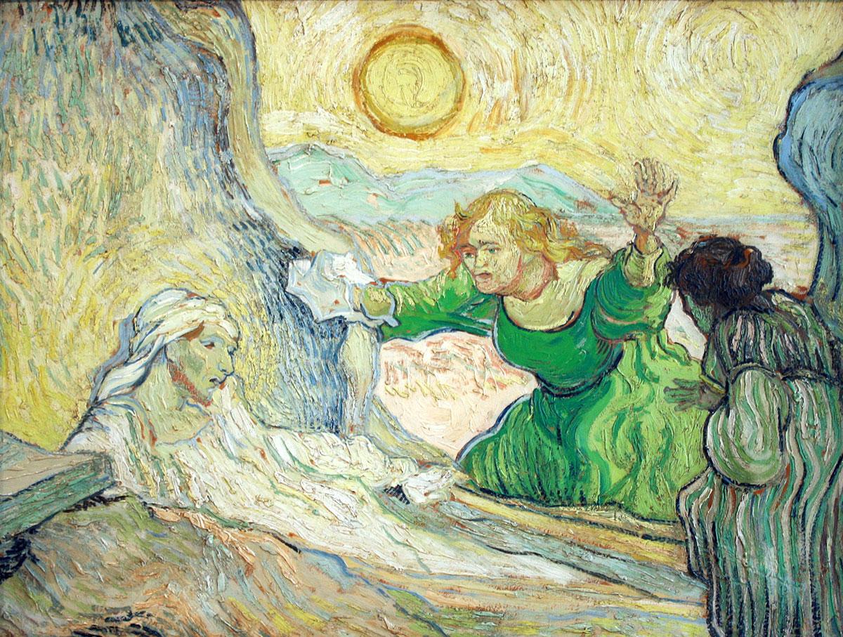 The Raising of Lazarus by Van Gogh